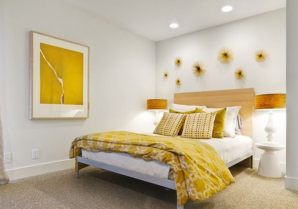 Bedroom that is all about the lustrous yellow metal