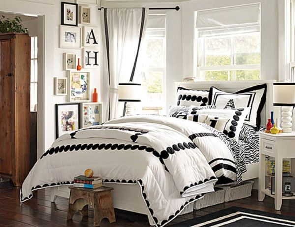 Black and white color scheme exudes style and sophistication