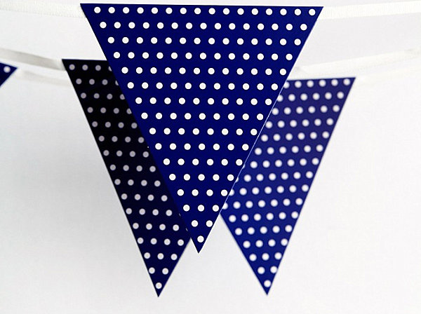 Blue polka dot flag banner