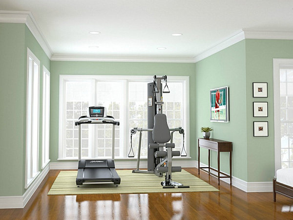 Bright and airy Guest room gym