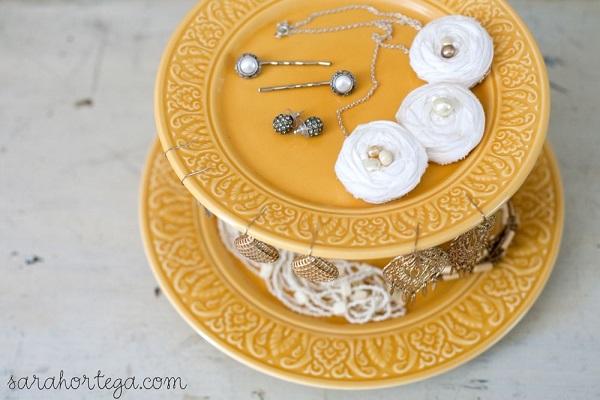 Cakestand jewelry organizer DIY