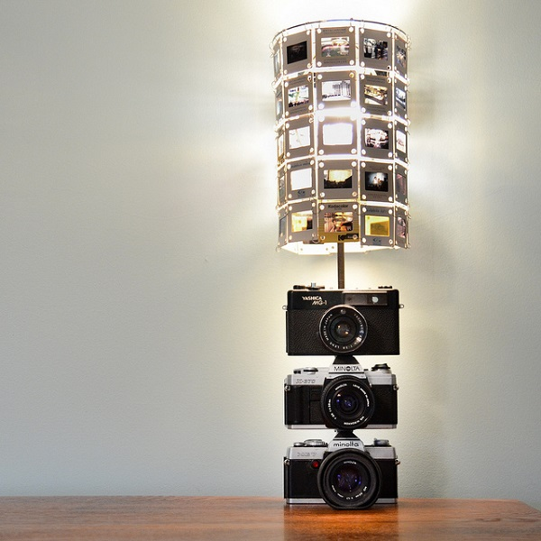 Camera shaped lamp DIY DIY Lamps That Will Brighten