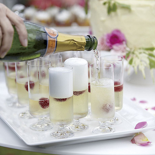 Champagne flutes from Crate & Barrel