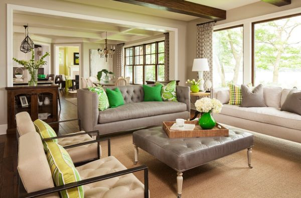 Accent Colors accent couch and pillow ideas for a cool contemporary home