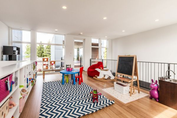 Colorful kids' playroom on the top level