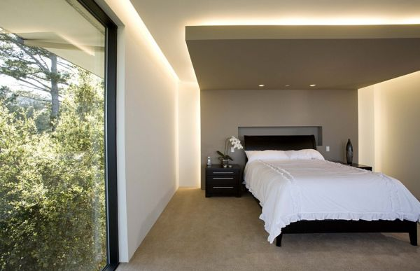 Combine natural lighting with recessed lighting for a complete look