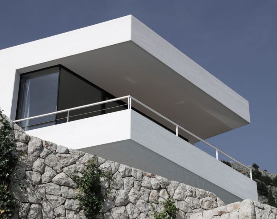 Concrete top levels of House U