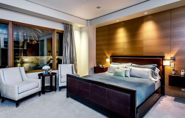 Create a creamy and romantic vibe in the bedroom with smart use of recessed lighting