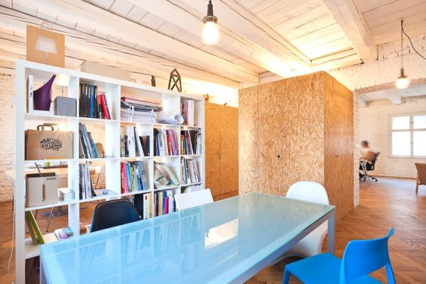 Creative office uses available space to the hilt