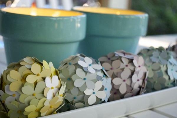 DIY floral decorative spheres