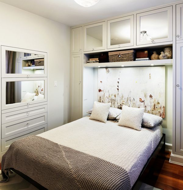 daft use of the vertical space on offer - Bedroom Simple Designs For Small Bedrooms