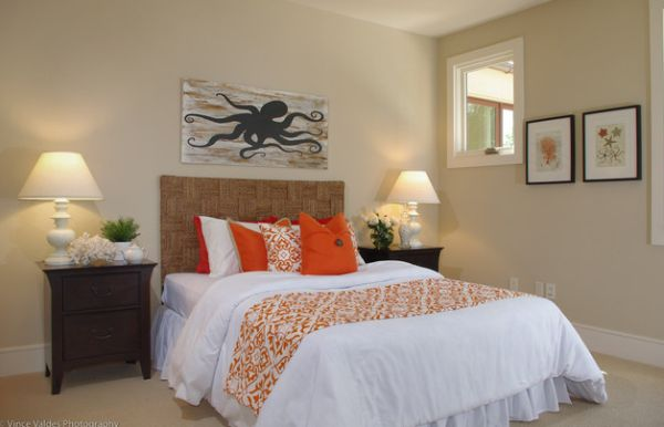 Dash of orange in the bedroom lifts your spirit instantly