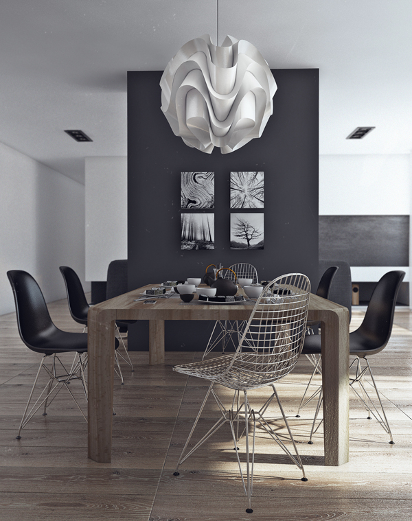 Simple Dining Room Design: Minimalist Bachelor Pad Brings Sleek Style To The Single