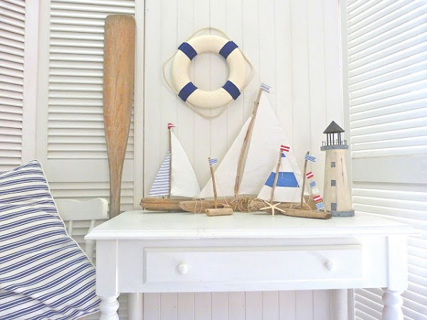 Driftwood sailboat decor