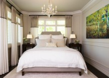 Earthen hues and lovely lighting create a warm and romantic bedroom