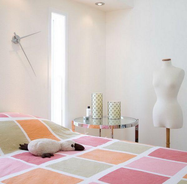 Eclectic bedroom brings together several different design elements