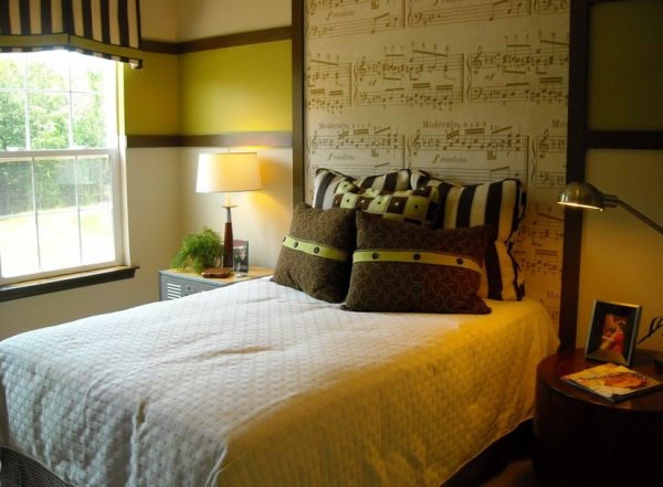 Eclectic bedroom that promises sweet and musical dreams