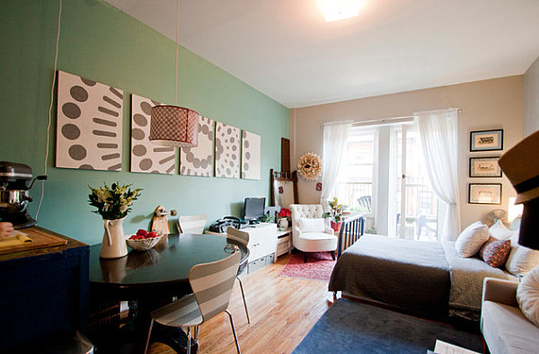 Eclectic studio apartment