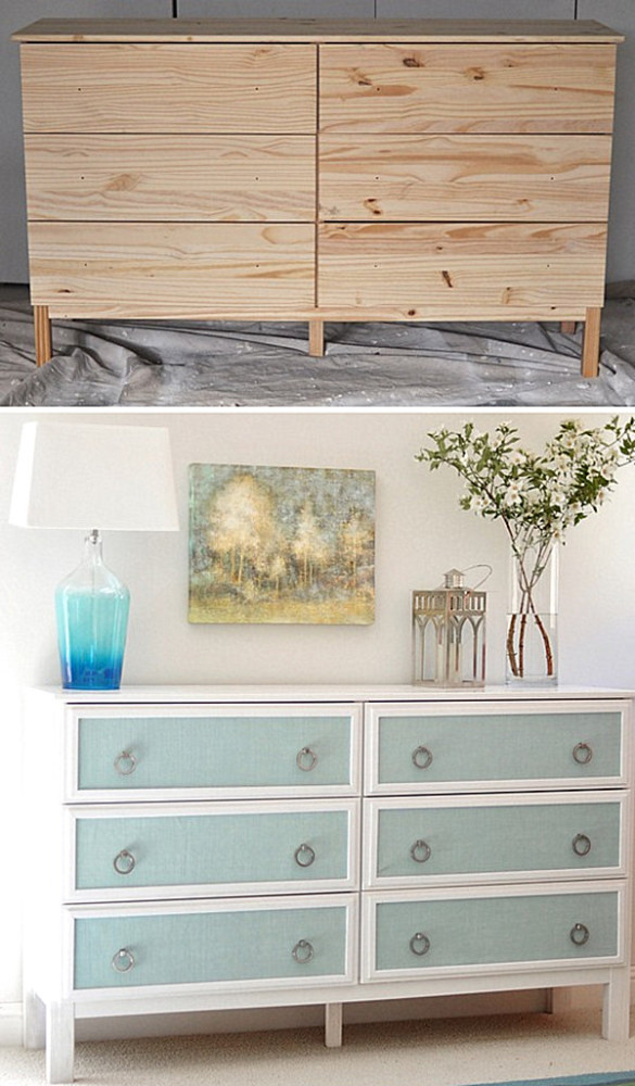 Elegant dresser makeover 585x1000 10 Inspiring Furniture Makeovers