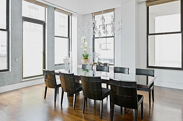 Elegant penthouse dining room