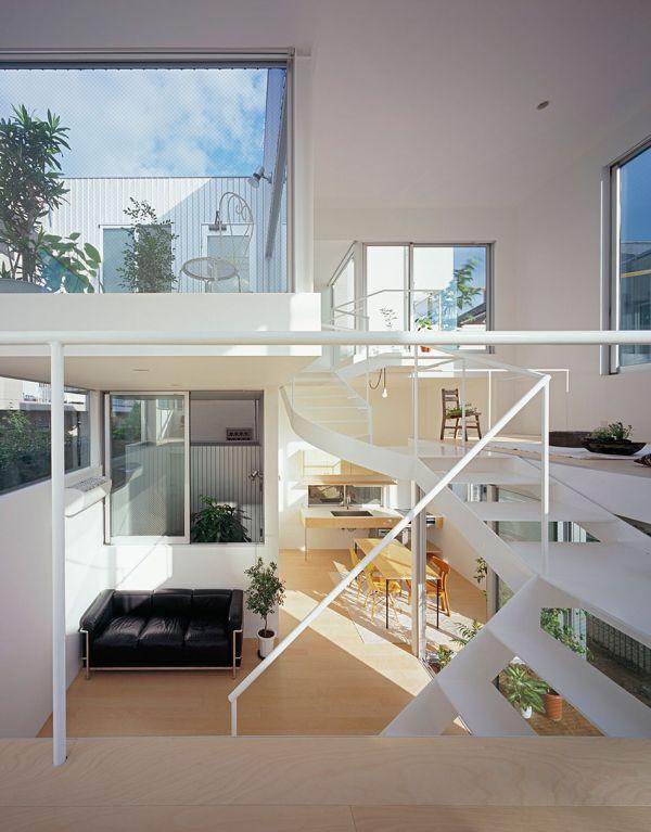 Elegant staircase in white