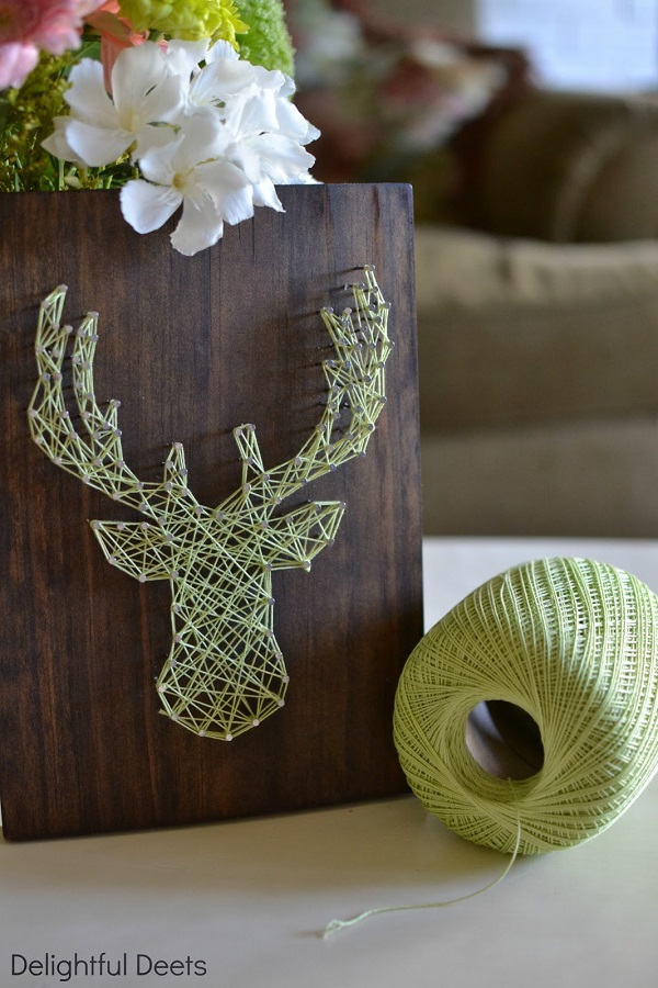 Elk head string art DIY