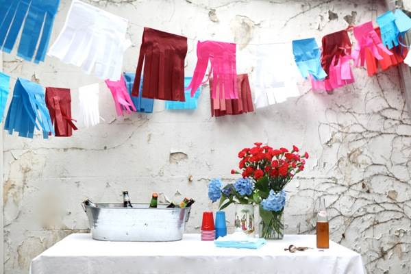 Fiesta-style 4th of July garland