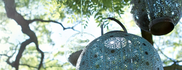 Filigree lanterns for the outdoors