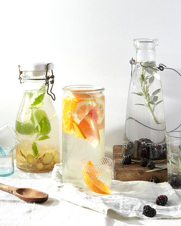 Flavored water for a festive party