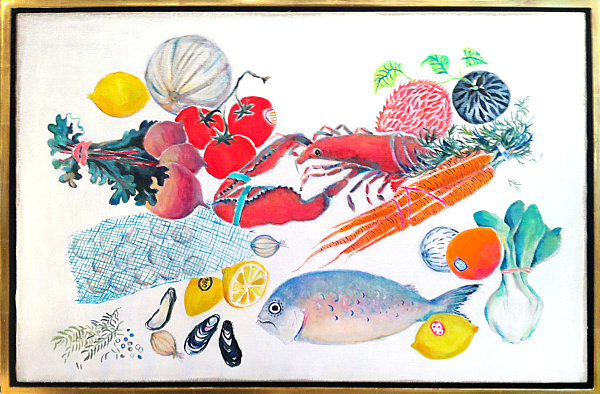 Food-themed artwork from Jonathan Adler