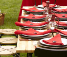 Fourth of July table in red