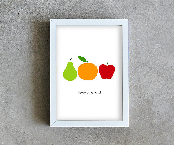 Fruit kitchen poster