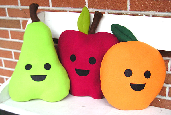 Fruit-themed pillows