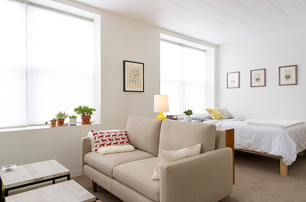 Studio apartments that make the most of their space for Studio apartment furniture layout