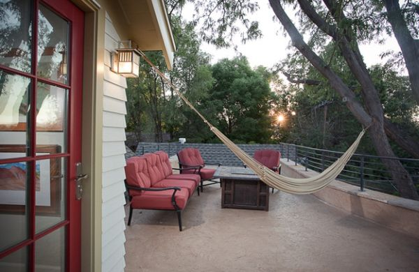 Get the support for the hammock just right