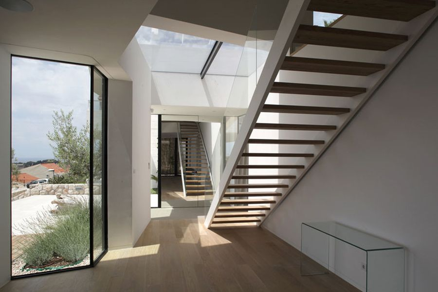 Glass windows bring in natural light