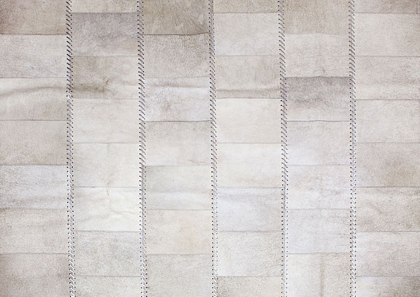 Gray-toned patchwork rug
