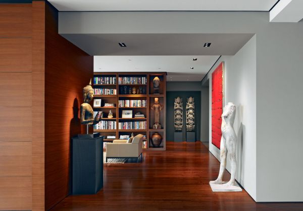 Highlight cherished possessions and prized art work with understated recessed lights