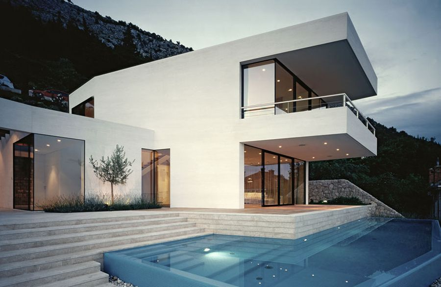 House U by 3LHD architects in Croatia Ingenious House U In Croatia Offers Unabated Views Of The Adriatic Coast