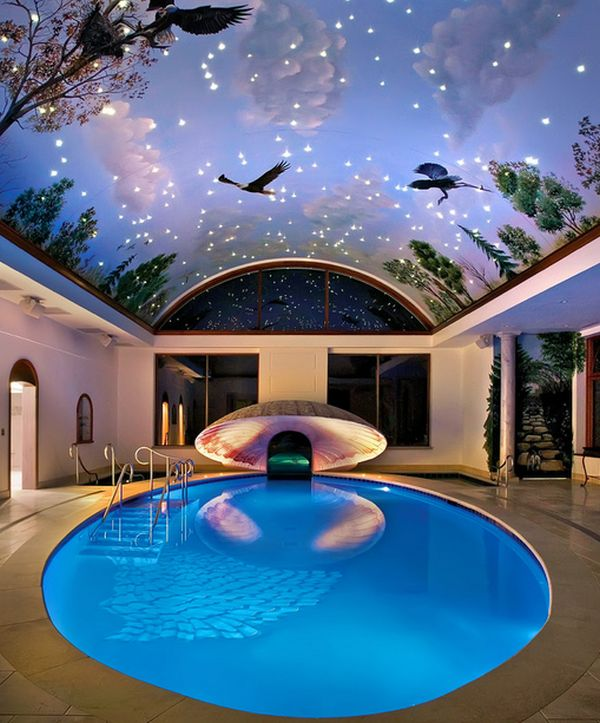 Indoor swimming pool roof pays a tribute to much more than the stars and the sky!