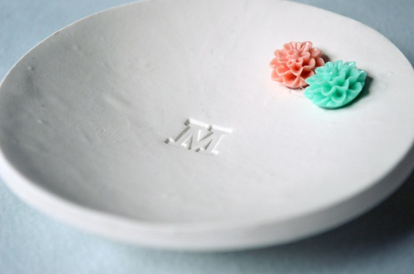 Initialed ring dish DIY