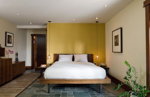 Interesting  bination Of Pendant Lights And Recessed Lighting In The Bedroom on beautiful homes warm inviting interiors