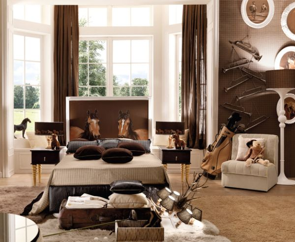 This kids' room clearly trumpets style and sophistication!