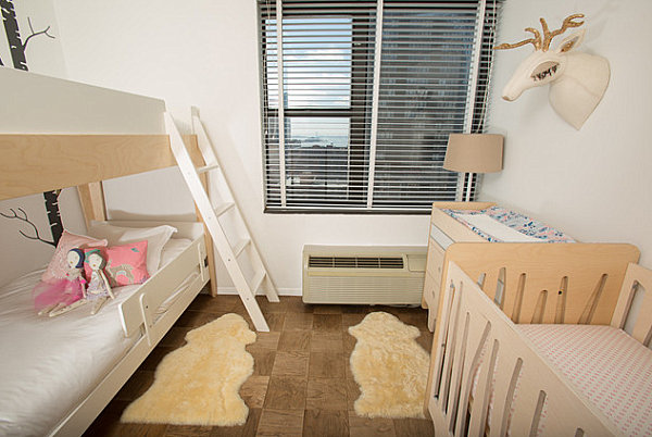 Kids' room with bunk beds