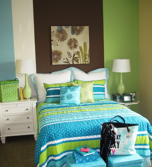 Lime green and blue bring in the hot colors of the season