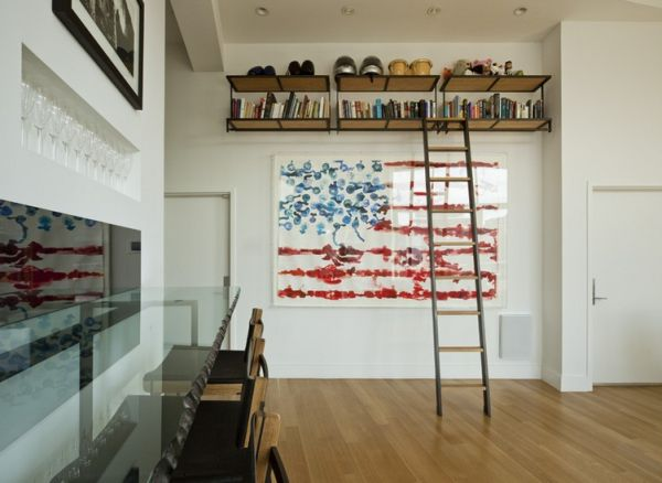 Living room with stylish flag portrait on the wall created by Australian artist Gav Barbey