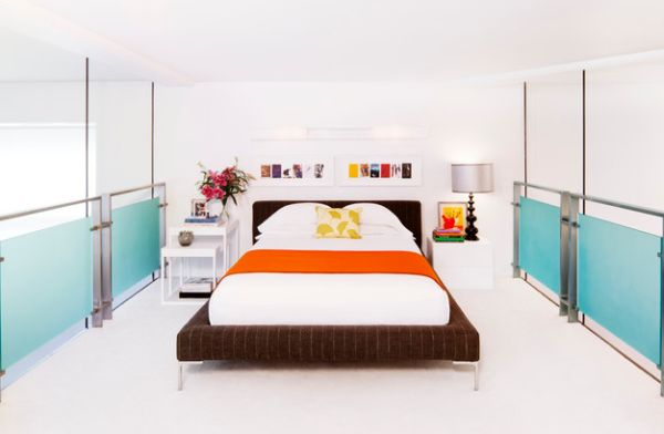 View In Gallery Loft Bedroom With Open Walls Seems As Stunning As Any  Larger Contemporary Bedroom