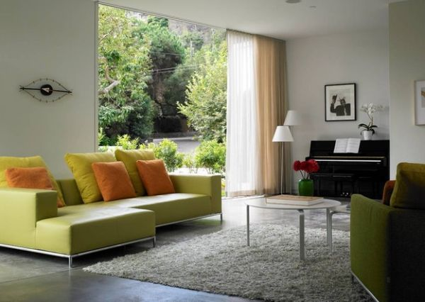 Make the piano a part of the living room setting