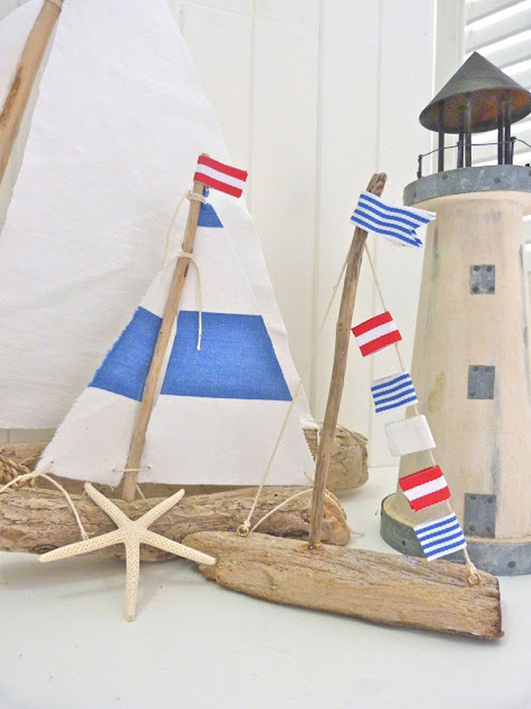 Nautical decor that makes a splash view in gallery mini driftwood sailboats diy solutioingenieria Choice Image