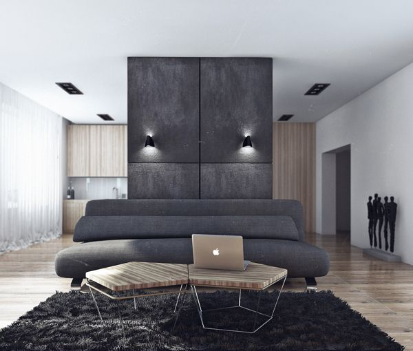 Minimalist bachelor pad exudes style Minimalist Bachelor Pad Brings Sleek Style to the Single